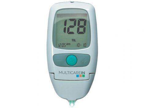 MultiCare IN 3 az 1-ben vércukor-, koleszterin és trigliceridszint-mérő készülék