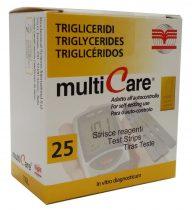 MultiCare triglicerid tesztcsík