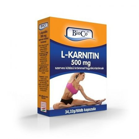 BioCo L-karnitin 500mg szerves kötésű krómmal 60db
