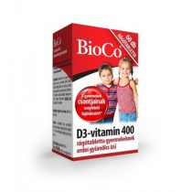BioCo D3-vitamin 400 rágótabletta gyermekeknek 60db