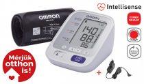 OMRON M3 Comfort Intellisense felkaros vérnyomásmérő adapterrel