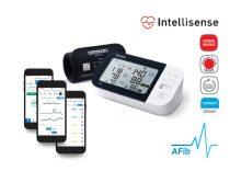 OMRON M7 Intelli IT Intellisense felkaros okos-vérnyomásmérő BT adatátvitellel, AFib üzemmóddal