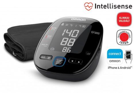 OMRON MIT5s connect  Black Line felkaros okos-vérnyomásmérő