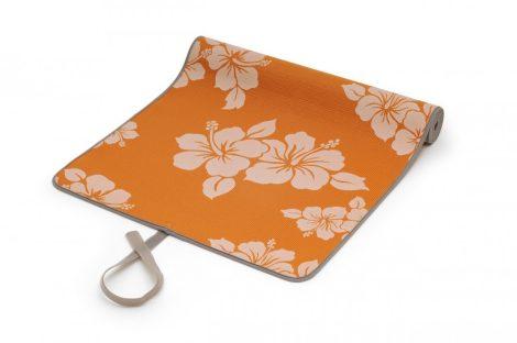SISSEL Jógaszőnyeg narancssárga virágos