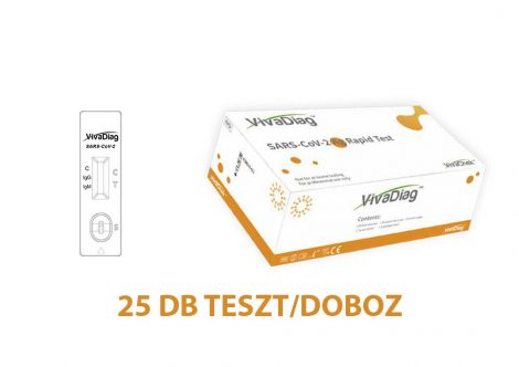 VivaDiagTM SARS-CoV-2 Ag Rapid Antigén gyorsteszt 25db